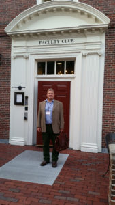 James Craig, on the steps of the Faculty Club at Harvard University.